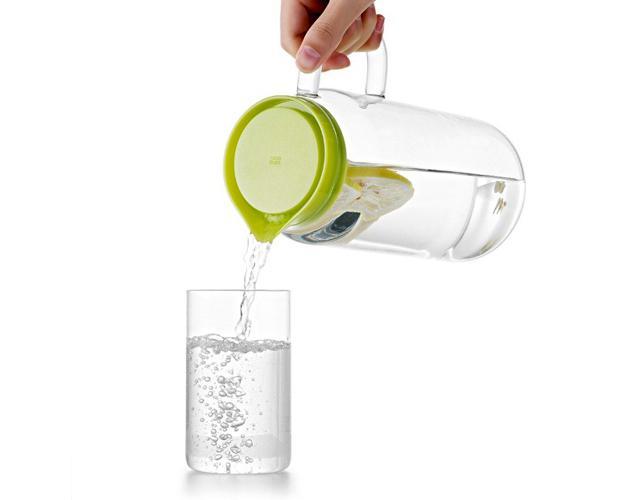 Bộ bình ly nước thủy tinh Samadoyo (1300ml + 350mlx4)