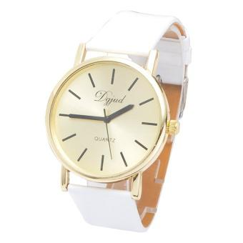 Fashion Watch Gold Watches Trade Fashion Casual Dignified Simple Table (White)