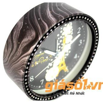 Đồng hồ báo thức King Time đính đá - US003 (Đen)