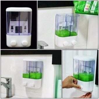 Hộp đựng nước rửa tay, dầu gội 2 ngăn