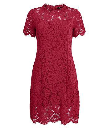 Đầm ren tay ngắn sang chảnh - Đỏ