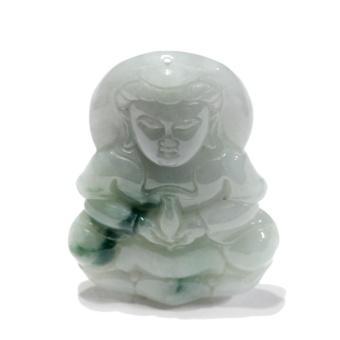 Mặt ngọc Jadeit (Phỉ Thúy), chạm Phật Bà – HNJ