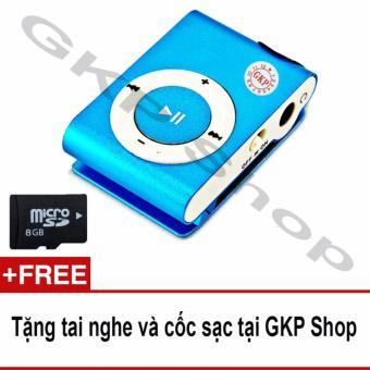 Máy nghe nhạc MP3 và thẻ nhớ 8GB, Tặng tai nghe và cốc sạc