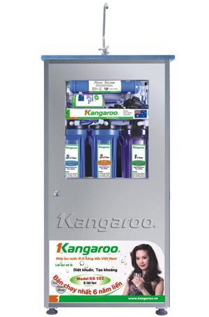 MÁY LỌC NƯỚC KANGAROO KG-102 VỎ INOX KHÔNG NHIỄM TỪ