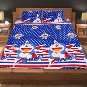 Bộ ga giường cotton Doremon 1m6 x 2m (Sao bi)