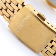 Đồng hồ đôi nam nữ dây kim loại Baishun 18938-15DO (Vàng)