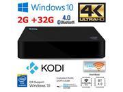 NEW Z83II 2G/32G Windows 10 TV Box Mini PC Intel Atom x5-Z8350 Quad Core 64bit 2.4G + 5.8G WiFi 2G D...