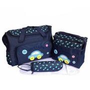 Bộ 3 túi xách cho mẹ và bé hình ôtô ( xanh đậm )