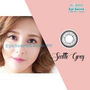 Kính áp tròng màu 38% dùng 6 tháng Eye Secret - Màu SEATTLE GREY (0.00 độ) (Xám)(Xám)