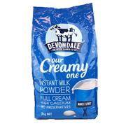 Sữa tươi dạng bột Devondale Our Creamy One 1kg (Xanh dương)