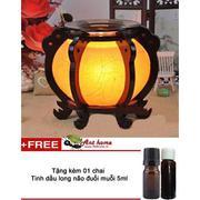 Bộ tinh dầu hương nhu thơm phòng (10ml) và đèn xông tinh dầu điện size L AH15+ Tặng 1 chai tinh dầu ...