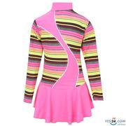Áo bơi bé yêu dài tay một mảnh hồng phản quang phối họa tiết - 9100502355
