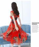 Đầm Maxi Họa Tiết hoa - DM01