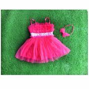 Đầm dây zara xinh hồng đậm 9kg - 24kg