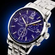 Đồng hồ nam dây thép cao cấp SKMEI xanh mã SK9070xanh