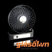 Quạt tích điện mini Fan 808B (Đen)