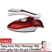 Bàn ủi Hơi Nước Mini Sokany lx-368 + tặng máy massage làm săn chắc da mặt bằng ION