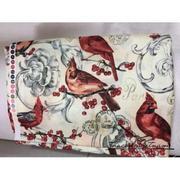 Vải thô họa tiết chim chích bông đỏ