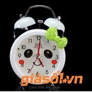 Đồng hồ báo thức để bàn cho bé 17064 (Nơ xanh)
