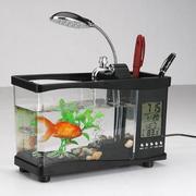 Bể cá thuỷ sinh để bàn mini Clever Mart (Đen)