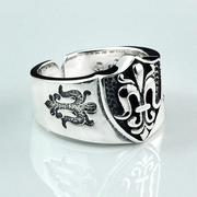 Nhẫn bạc nam handmade Hadosa