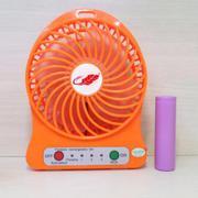 Quạt sạc mini cắm USB 3 cấp độ gió kèm pin sạc tích điện (màu Xanh da trời) Bằng Việt