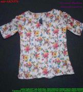 Áo kiểu nữ ngắn tay họa tiết hoa xinh xắn AKN376