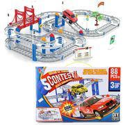 Bộ đồ chơi lắp ráp mô hình đường ray - xe ô tô