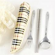 Bộ muỗng, đũa, nĩa inox (2 bộ)