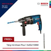 Máy khoan Bosch GBH 2-20 DRE + Tặng 1 Mũi khoan bê tông Plus-1 14x200/260MM