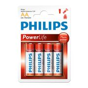 Vỉ 4 viên pin AA Alkaline Philips LR6P4B/97 1,5V (Đỏ)