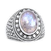 Nhẫn bạc nam đá Mặt trăng cao cấp Hadosa