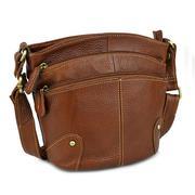 Túi đeo Messenger da bò ba ngăn khóa Heti