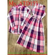 Sét đồ đôi áo sơ mi và đầm xòe form dài xinh đẹp trẻ trung ATD133 -  ATD133neweewwww