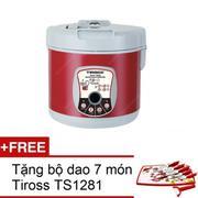 Máy làm tỏi đen Tiross TS906 (đỏ mận) + Tặng 1 bộ dao 7 món Tiross TS1281