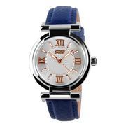 Đồng hồ nữ dây da SKMEI (Dây xanh)