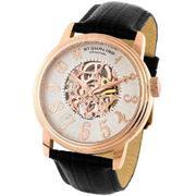 Stuhrling Original Men's Classic 'Apollo' Skeleton Automatic Watch #107A.334534