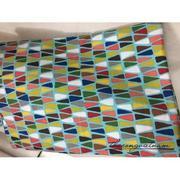 Vải thô họa tiết tam giác xen kẽ
