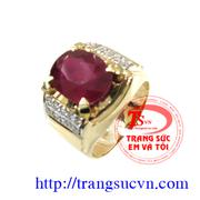 Nhẫn nam ruby đẹp