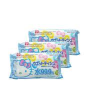 Giấy Ướt Nước Tinh Khiết Hello Kitty (80 Miếng X 3 Gói)