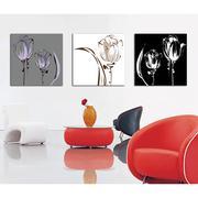 Tranh trang trí hoa nghệ thuật Thế Giới Tranh Đẹp Q6D6_30V(40x40)