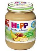 Dinh dưỡng đóng lọ đào chuối Hipp 125g