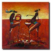 Tranh in canvas sơn dầu Thế Giới Tranh Đẹp TCV_45V (Họa tiết)(45x45)