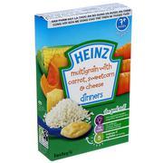 Bột ăn dặm ngũ cốc, cà rốt, phô mai, bắp ngọt nghiền 100g Heinz