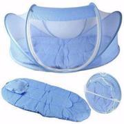 Bộ màn chụp kèm đệm chống muỗi cho trẻ em Happy baby( xanh)