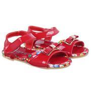 Sandal khóa nơ vải đỏ