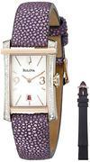 Đồng hồ nữ Bulova 98R197 Analog Display Quartz Purple