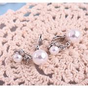 Bông tai nữ bạc mẫu 2 hạt ngọc trai 6mm và 10mm thời trang model1995