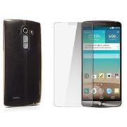 Bộ Ốp lưng Nillkin silicon cho LG G4 (Trong suốt) và Miếng dán kính cường lực LG G4-Hàng nhập khẩu