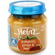 Dinh dưỡng đóng lọ Heinz bí đỏ, khoai tây và bò nghiền 110g